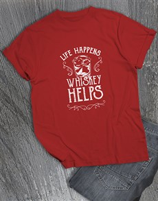 gifts: Life Happens Whiskey Helps T Shirt!