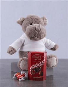 gifts: Lindt and Rhino Plush!