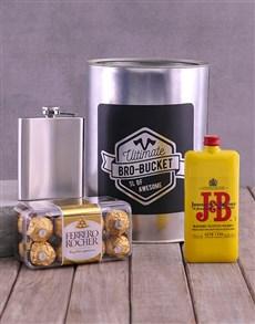 gifts: J and B Bro Bucket!
