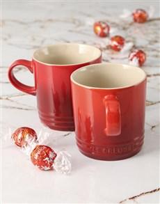 gifts: Le Creuset Cherry Mug Hamper!