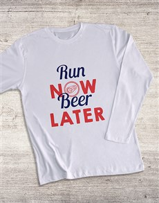 gifts: Run Now Beer Later T Shirt!
