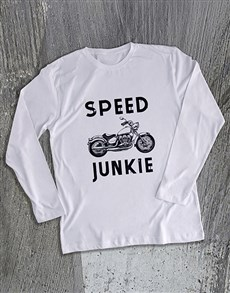 gifts: Speed Junkie Motorcycle Long Sleeve T Shirt!