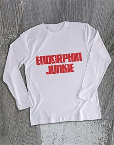 gifts: Endorphin Junkie Long Sleeve T Shirt!