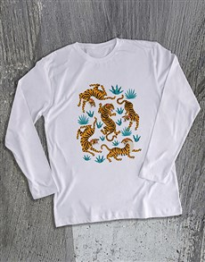 gifts: Tiger Graphic Long Sleeve T Shirt!