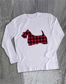 gifts: Scottish Terrier Print Long Sleeve T Shirt!