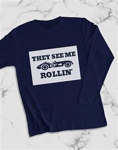 gifts: Rolling Racecar Long Sleeve T Shirt!