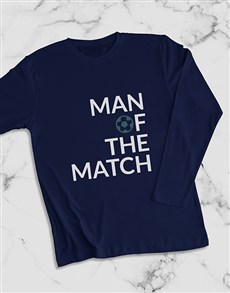 gifts: Man Of The Match Long Sleeve T Shirt!