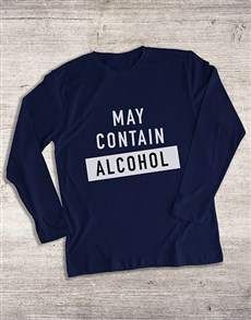 gifts: May Contain Alcohol Long Sleeve T Shirt!