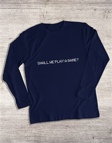 gifts: Shall We Play a Game Long Sleeve T Shirt!