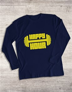 gifts: Happy Hour Weight Training Long Sleeve T Shirt!