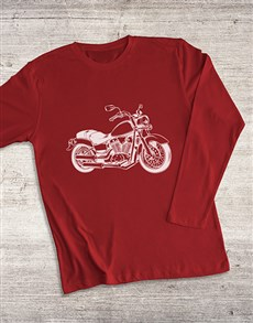 gifts: Motorcycle Sketch Long Sleeve T Shirt!