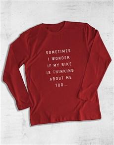 gifts: Sometimes I Wonder IF My Bike Long Sleeve T Shirt!