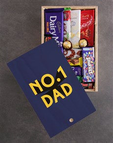 gifts: Number One Dad Chocolate Crate!