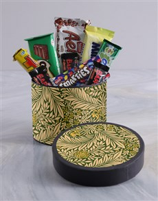 gifts: Antique Style Floral Wrap Choc Hat Box!