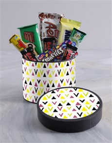 gifts: Colour Splash Wrap Choc Hat Box!