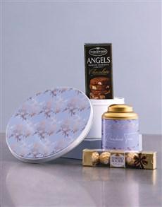 gifts: Leafy Gold Tea Tin Hamper!