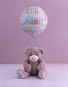 gifts: Welcome Baby Teddy And Balloon Gift!