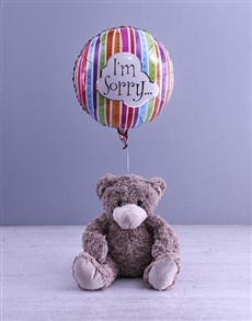 gifts: Im Sorry Teddy And Balloon Gift!