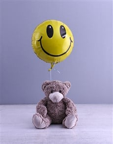 gifts: Smiley Face Teddy And Balloon Gift!