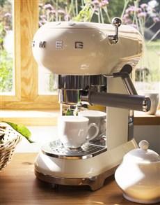 gifts: SMEG Retro Espresso Coffee Machine Creme!