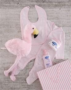 gifts: Flamingo Gift Set for Baby Girl!