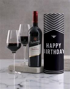 gifts: Happy Birthday Geometric Wine Tube!