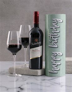 gifts: Happy Birthday Speckled Green Wine Tube!