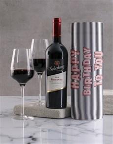 gifts: Happy Birthday Striped Wine Tube!