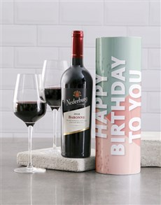 gifts: Happy Birthday To You Wine Tube!