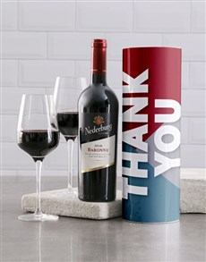 gifts: Trendy Thank You Wine Tube!