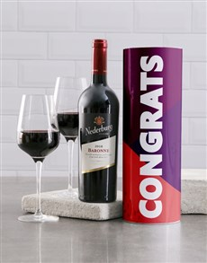 gifts: Bold Congratulations Wine Tube!