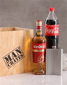 gifts: Klipdrift and Coca Cola Man Crate!