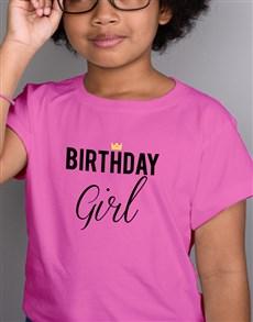 gifts: Birthday Girl Kids Pink T Shirt!