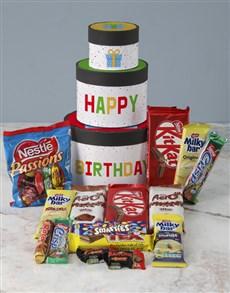 gifts: Birthday Wrap Around Chocolate Tower Box!