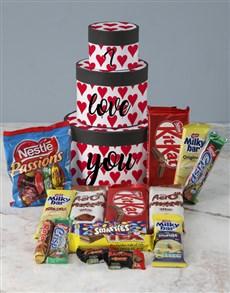 gifts: I Love You Wrap Around Chocolate Tower Box!
