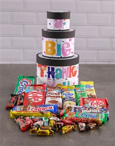 gifts: A Big Thank You Wrap Around Chocolate Tower Box!