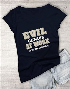 gifts: Evil Genius Ladies T Shirt!