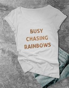 gifts: Chasing Rainbows Ladies T Shirt!