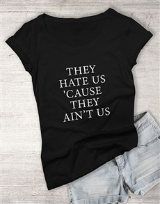 gifts: Haters Ladies T Shirt!