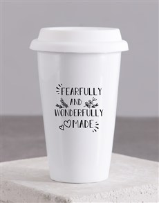 gifts: Wonderfully Made Travel Mug!