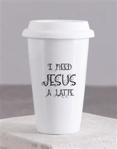 gifts: I need Jesus Travel Mug!
