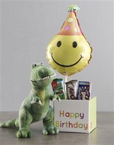 gifts: Dinosaur Teddy And Balloon Birthday Box!