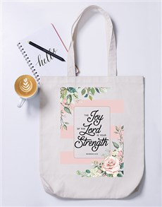 gifts: Joy of the Lord Tote Bag!
