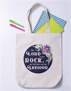 gifts: Lord is my Rock Tote Bag!