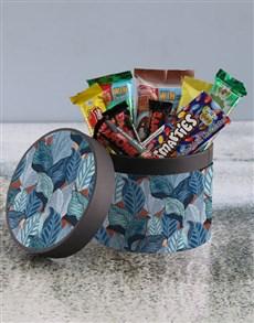 gifts: Blue Leaf Hatbox!