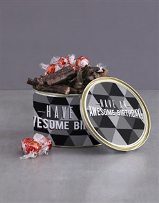 gifts: Birthday Wishes Biltong And Lindt Tin!