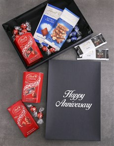 gifts: Anniversary Lindt Chocolate Box!