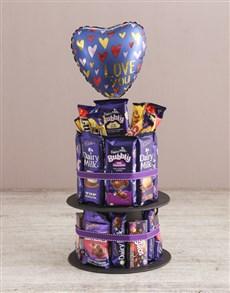 gifts: Cadbury Chocolate Tower Of Love And Balloon!