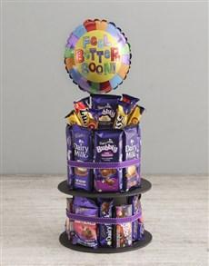 gifts: Cadbury Get Well Soon Tower And Balloon!