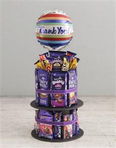 gifts: Cadbury Gratitude Chocolate Tower And Balloon!